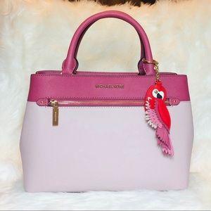 Michael Kors Hailee Blossom Satchel Leather Charms